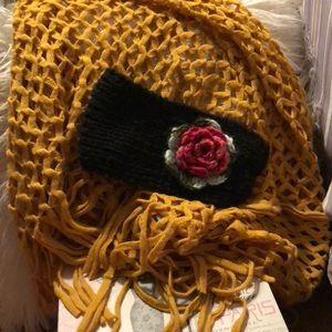 Charlotte Russe fringe scarf and bonus headband
